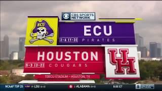 November 4, 2017 - East Carolina Pirates vs. Houston Cougars Full Football Game 60fps