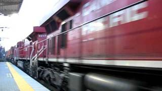 Video Freight train goes by the Maple Meadows West Coast Express Station download MP3, 3GP, MP4, WEBM, AVI, FLV Desember 2017