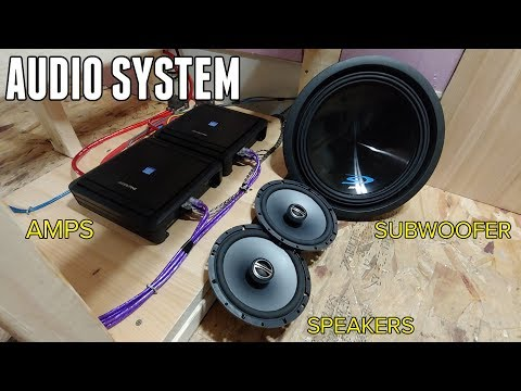 Installing an AWESOME Audio System in the Bus! - Amps, Speakers, Subs & Head Unit