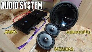 Installing an AWESOME Audio System in the Bus! - Amps, Speakers, Subs & Head Unit thumbnail