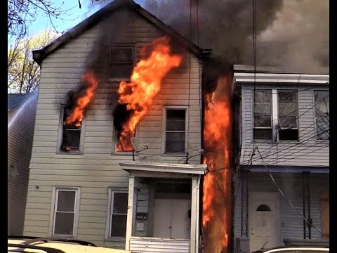 Paterson NJ Fire Department 5th Alarm Fire 21 Rose St April 14th 2017