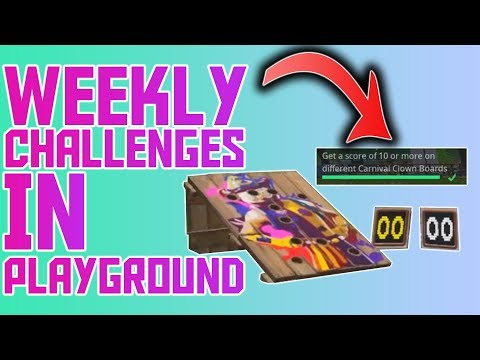 You Can Do Weekly Challenges In Playground