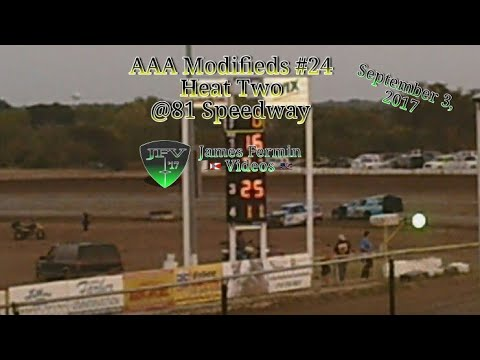 AAA Modifieds #28, Heat, 81 Speedway, 2017