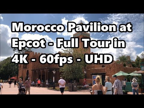 Morocco Pavilion at Epcot | Full Tour in 4K 60fps | Walt Disney World