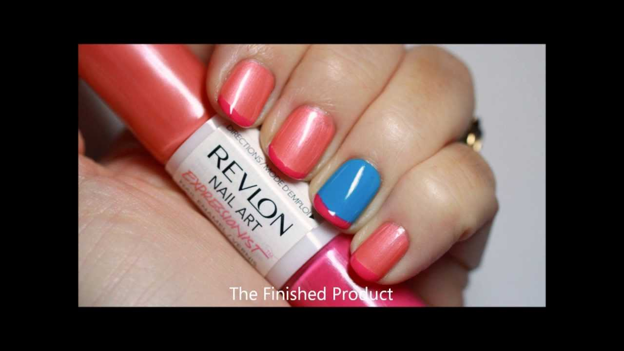 Roll your way to a french tip featuring revlon expressionist roll your way to a french tip featuring revlon expressionist nail art polish youtube prinsesfo Images