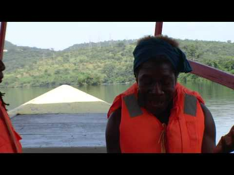 Morning Affirmation on Lake Volta Ghana Tour Oct 2013