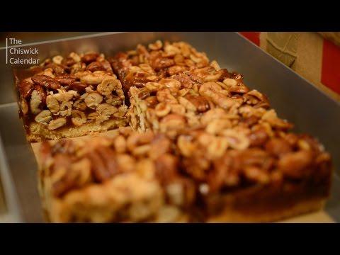 Pecan strudel, lemon drizzle and scones