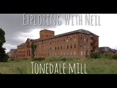Abandoned mill with machinery still inside