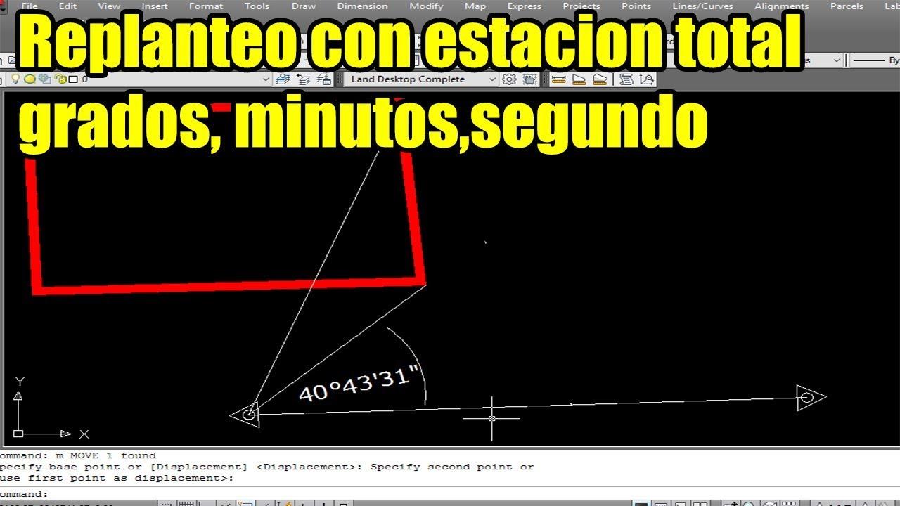 Como Anotar ángulos En Grados Minutos Segundo En Autocad Para Replantear En Campo Youtube