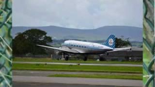 KLM Douglas DC-3 Dakota PH-PBA - Glasgow to Edinburgh flight Part 1 of 3