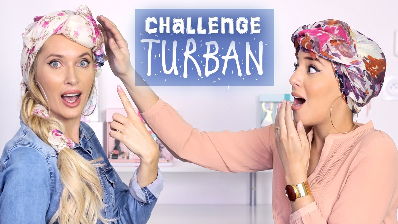 Bien-aimé CHALLENGE: TURBAN avec Salima Le Vaux Bien ❤ Comment mettre le  YG01