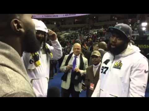 Super Bowl Media Day: Wacky Vlogger, Panthers Do Dap #SB50