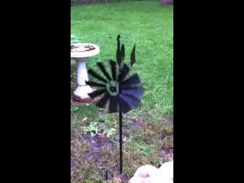 GIFTE-MART ROOSTER country weather vane wind kinetic spinner metal windmill Pinwheel