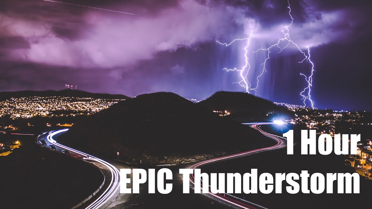 EPIC Thunderstorm at Night for Relaxation and Sleep - Binaural - 1 Hour