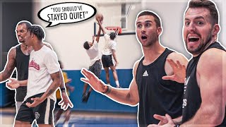Xavier Rathan Mayes SHUTS DOWN TRASH TALKER At Pro Run 😈 | Jordan Lawley Basketball