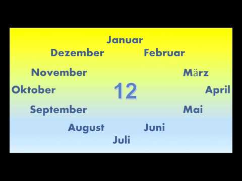 Monate lernen - Januart bis Dezember - 1 Jahr