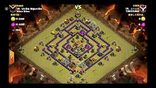 Clash of Clans Th8 Hog Rush32 3 star attack