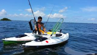 Kayak catamaran fishing in tampa bay