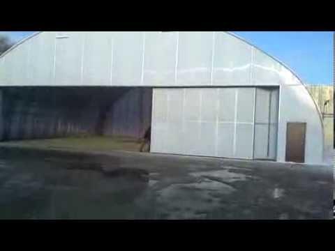видео: Складные ворота для авиа ангара!