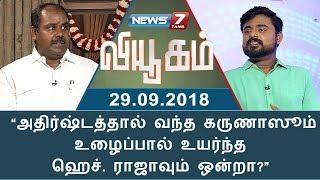 Viyugam 29-09-2018 Interview with R B Udayakumar – News7 Tamil TV Show