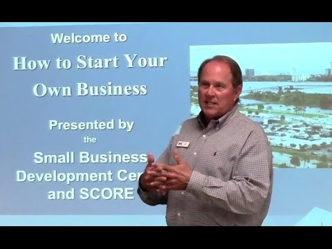 SBDC Florida Director Ned Harper's How to Start a Business Workshop (27m45s)