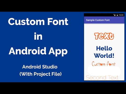How To Use Custom Font In Android App - Android Studio 2.0