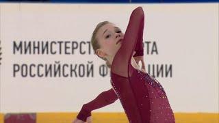 Майя Хромых Короткая программа Девушки Первенство России по фигурному катанию среди юниоров 2020