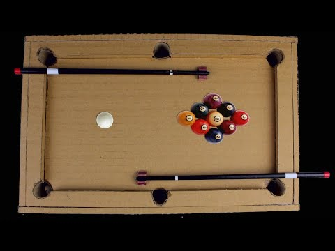 Amazing ! How To Make Desktop 9 Ball Pool Game From Cardboard  - Diy Toy With Mr H2 at Home