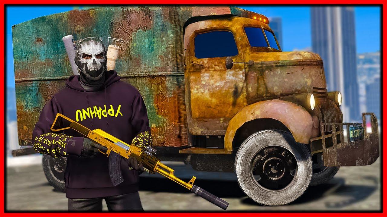 GTA 5 Roleplay - surviving 20 bounty hunters in rusty junkyard cars   RedlineRP