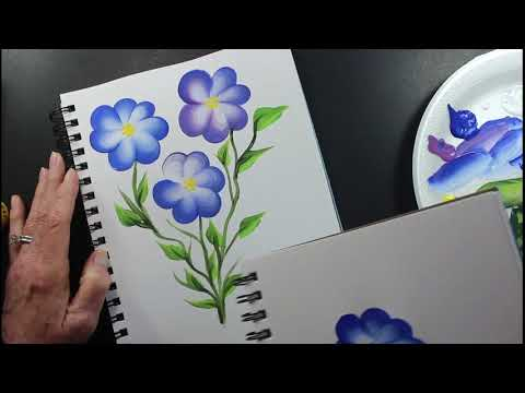 How to paint a TEAR DROP One Stroke Painting  –  Tutorial Video – Acrylics