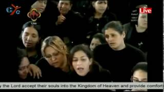 Funeral prayers for the martyrs of St. Mark Cathedral, Alex, Egypt