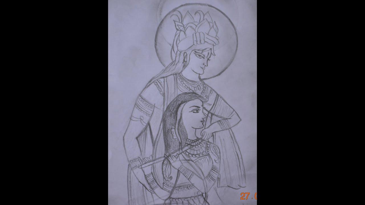 Pencil Shading | Krishna and Radha - YouTube
