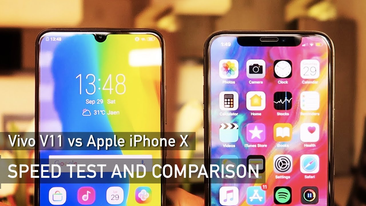 Vivo V11 vs iPhone X SPEED TEST | Zeibiz