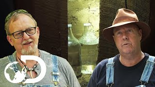 Mark & Digger Go Hunting For A Hidden Batch Of Popcorn's Moonshine | Moonshiners