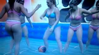 Brazilian Babes Getting Slippery On Game Show
