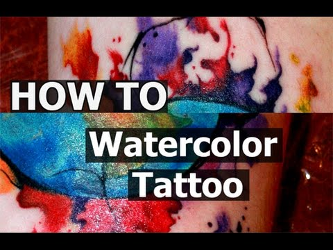 #Tattoo techniques - #watercolor -