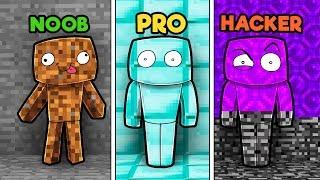 Minecraft - NOOB vs PRO VS HACKER - HIDE AND SEEK!