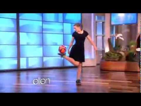 Girl with amazing soccer skills tricks   Ellen
