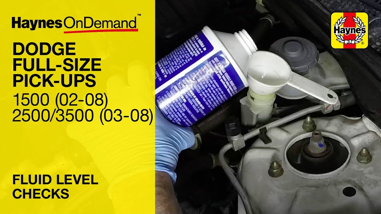How to check the fluid levels on a Dodge Ram 1500 (2002-2008), 2500 & 3500  (2003-2008)