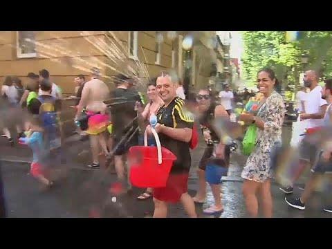 يورو نيوز:شاهد: مهرجان فاليكاس السنوي للمياه في مدريد