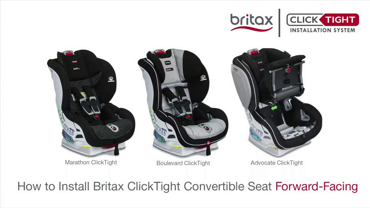 How To Install A Britax Click Convertible Car Seat Forward Facing
