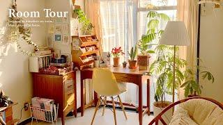 【ルームツアー】好きなものに囲まれた温かみのあるBOHO風の一人暮らし部屋 間接照明・観葉植物 1LDK 木製インテリア Japanese  room tour