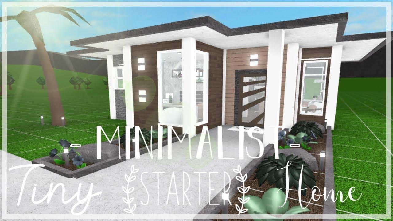 Roblox Bloxburg Minimalist Tiny Starter Home Youtube