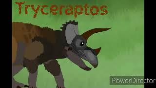 DINO FAITH Tyrannosaur vs triceratops Рисуем мультфильмы 2