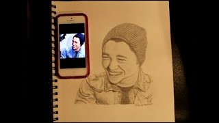 Fast Motion Drawing of Austin Mahone