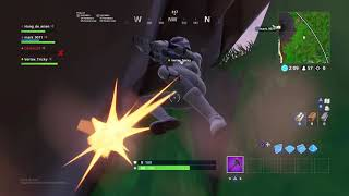 Insane bunny hop and getting stuck inside the fortnite map
