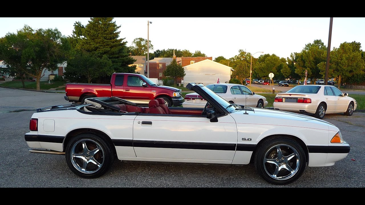 1988 ford mustang lx 5 0 convertible startup test drive for sale youtube. Black Bedroom Furniture Sets. Home Design Ideas