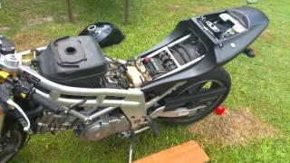 Hyosung GT650 nude - fixing a petrol/fuel leak - YouTubeYouTube