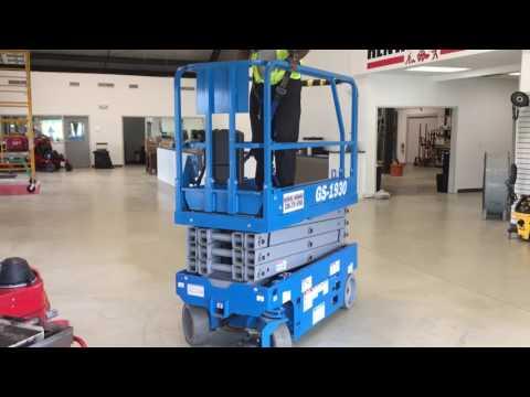 19 Foot Genie Scissor Lift at Rental Works