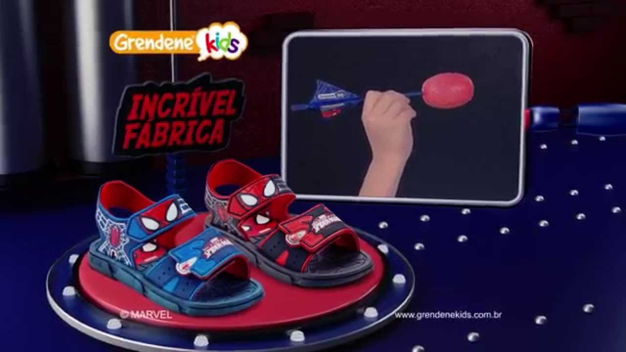 0b4564c7b3 A Incrível Fábrica Grendene Kids apresenta... Sandália Homem-Aranha com Big  Dardo! - YouTube